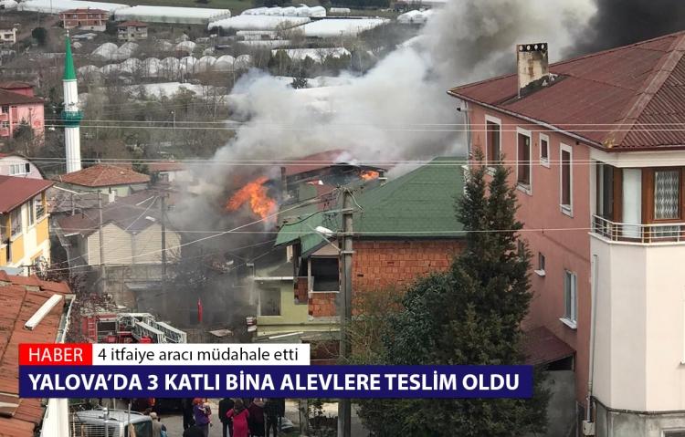 3 Katlı Evde Yangın Çıktı