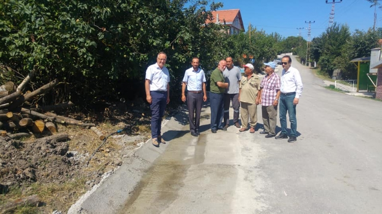 "Aktoprak Köyü'ne, ""V"" Tipi Yağmur Suyu Kanalı"