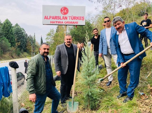 Alparslan Türkeş Hatıra Ormanına Fidan Dikildi