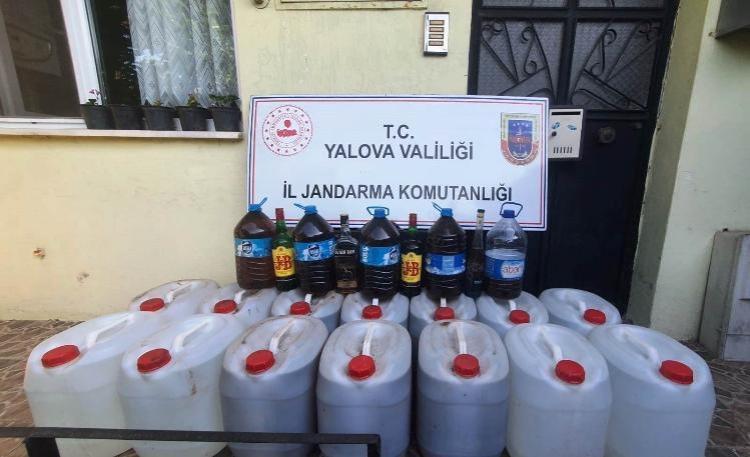 Altınova'da 5 Bin 500 Litre Sahte İçki Ele Geçirildi