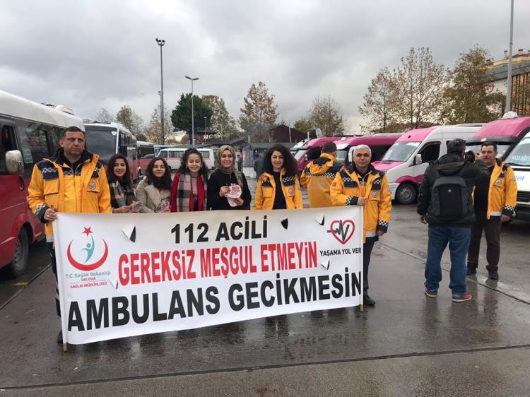 Ambulanslara Yol Vermenin Önemi Anlatıldı