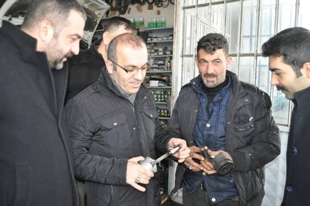 Arslanhan Sanayi Esnafını Ziyaret Etti