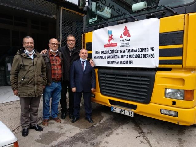 Azerbaycan'a Yalova Ve Bursa'dan Yardım Eli