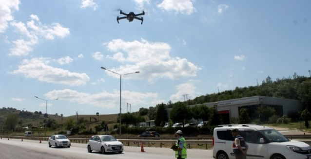 Bayram Trafiği Drone'la Denetlenecek