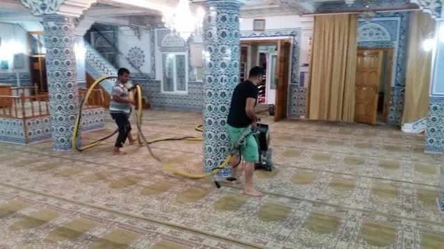 Camilere Bayram Temizliği Başladı