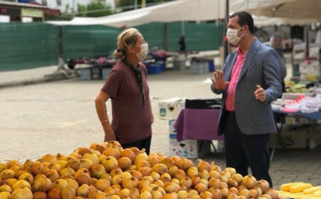 Canbay Pazarcı Esnafını Ziyaret Etti