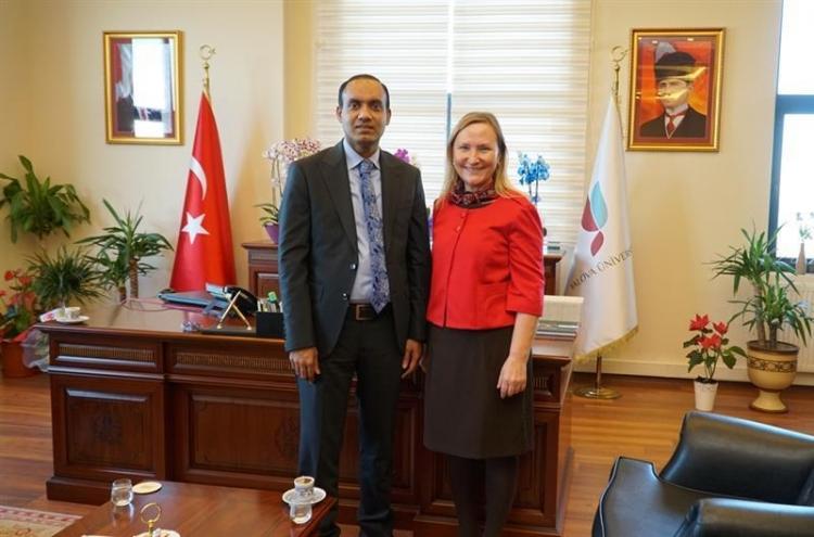 Bangladeş Başkonsolosu, Rektör Alkan'ı Ziyaret Etti