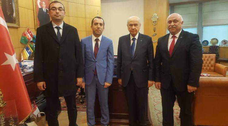 MHP İl Yönetimi Bahçeli'yi Ziyaret Etti