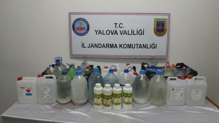 Yalova'da Sahte İçki İmalathanesine Operasyon