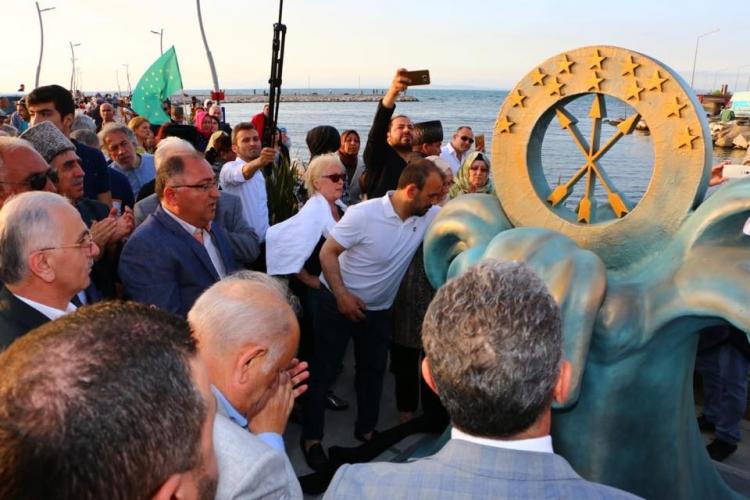 Çerkes Soykırım Ve Sürgünü Anıtı Törenle Açıldı