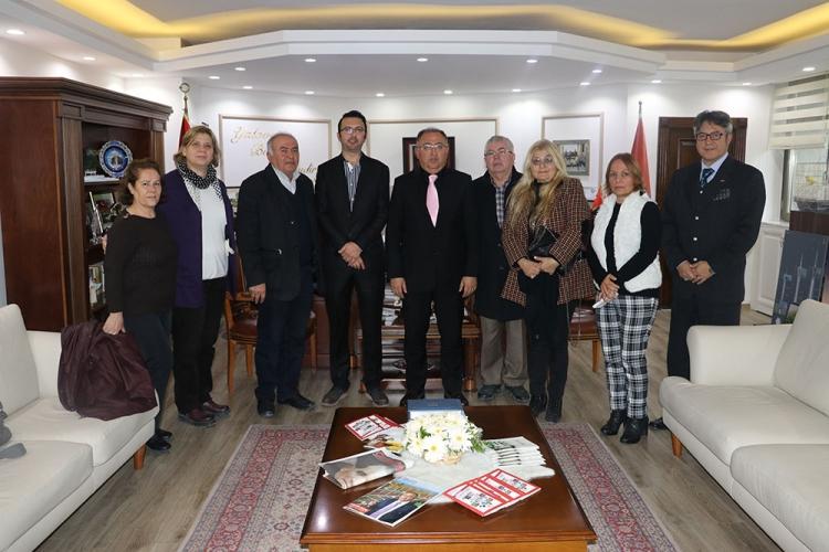 CHP İlçe Yöneticilerinden Başkan Salman'a Ziyaret