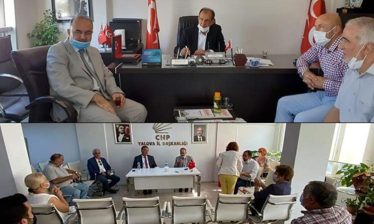 Vali Erol'dan MHP Ve CHP'ye Hayırlı Olsun Ziyareti