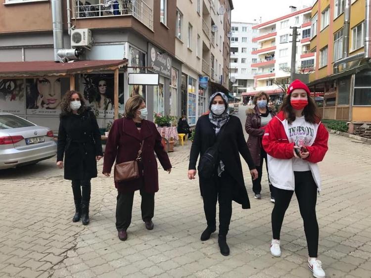 CHP'li Kadınlardan Armutlu Esnaflarına Maske