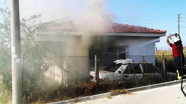 Çiftlikköy'de Korkutan Yangın