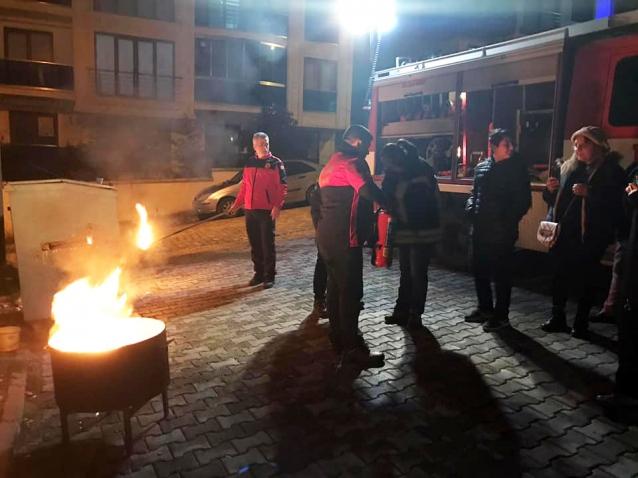 Çınarcıklı Mag'lara Yangın Eğitimi