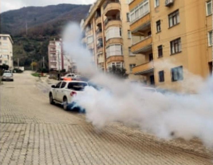 Esenköy'de Dezenfekte Çalışmaları Yapıldı