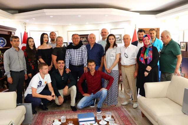 Festival Ekipleri Başkan Salman'ın Konuğu Oldu