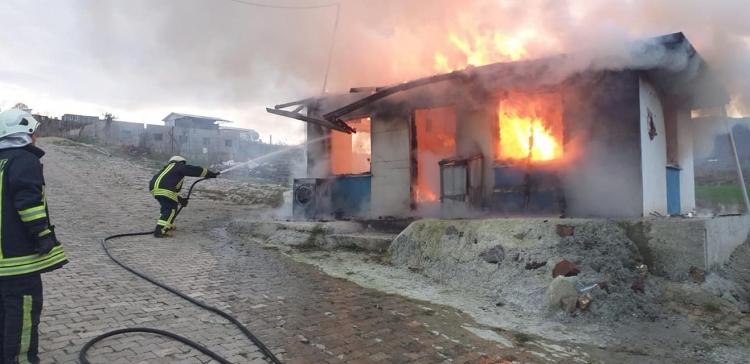 Gacık'ta Korkutan Yangın