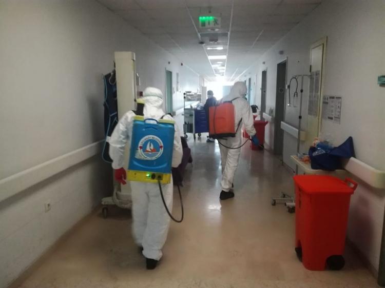 Hastane Dezenfekte Edildi