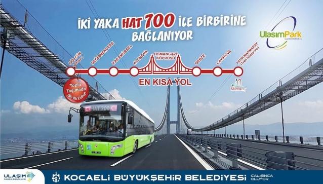 Hat 700 Osmangazi Köprüsü'nün İki Yakasını Birleştirecek