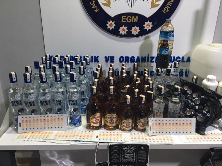 Kaçak İçki İmalathanesine Operasyon