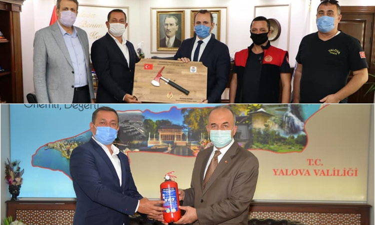 İtfaiyecilerden Erol Ve Tutuk'a Ziyaret