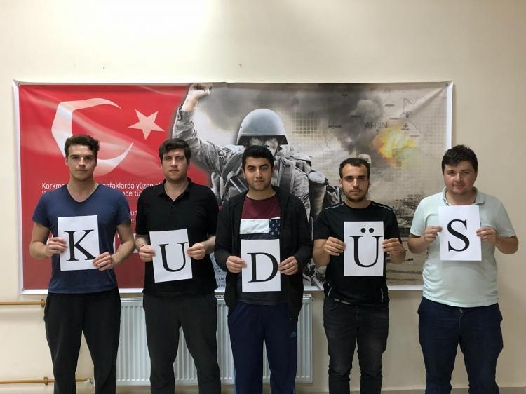 KYK'dan Kudüs'e Destek Eylemi