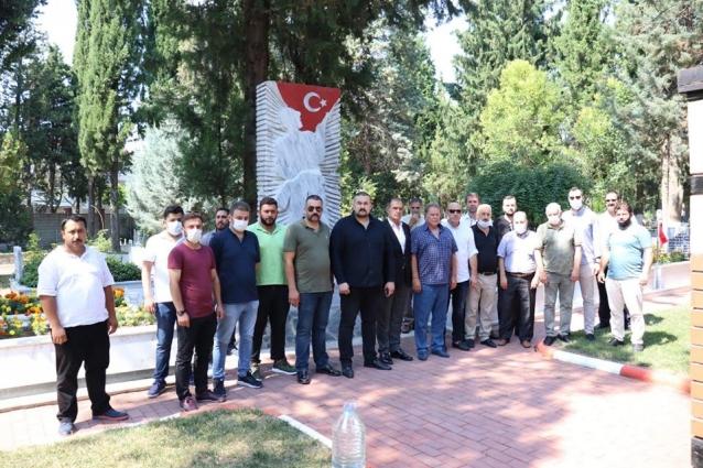 MHP İl Yönetiminden Şehitlik Ziyareti
