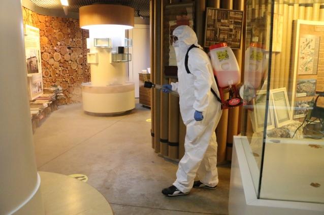 Müzeler Dezenfekte Edildi