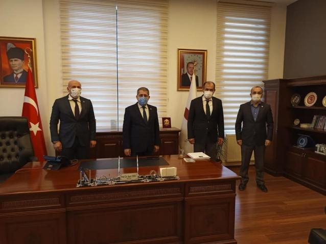 Öz'den Rektör Cebeci'ye Ziyaret