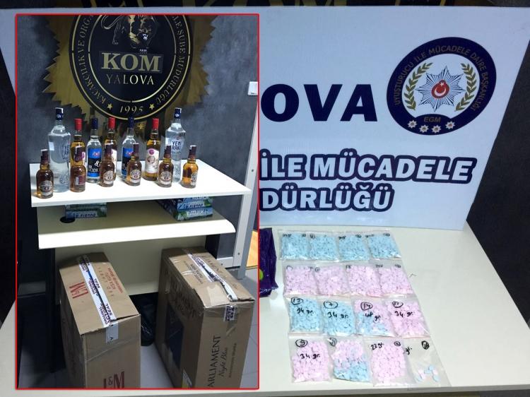 Polisten Uyuşturucu Ve Sahte İçki Operasyonu