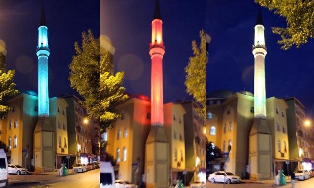 Renkli Minare İlgi Görüyor