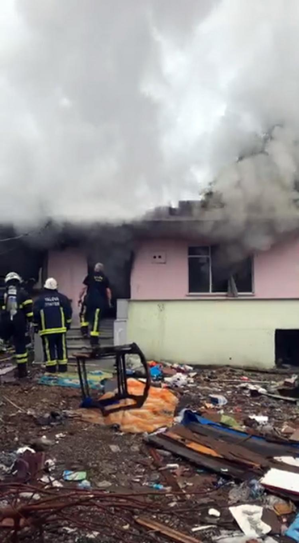 Roman Mahallesinde Yangın