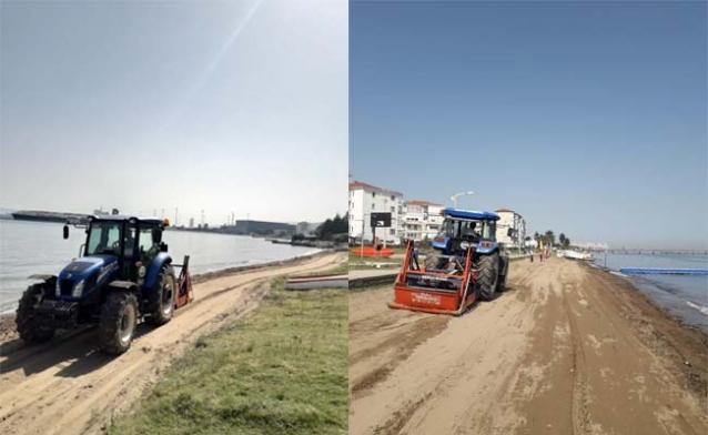 Taşköprü'de Plajların Temizliği Devam Ediyor