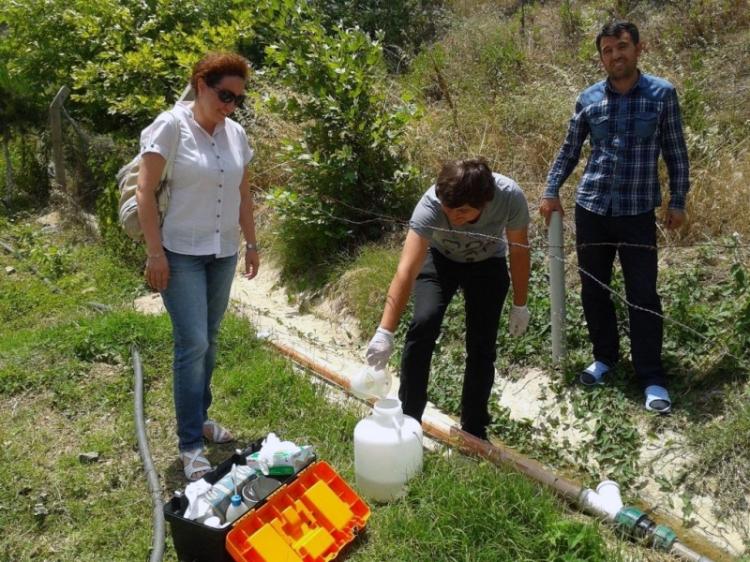 Termal Otellerden Su Numunesi Alınıyor