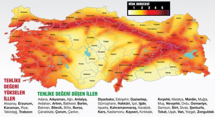 Yalova Deprem Riski Yüksek İller Arasında Yer Aldı