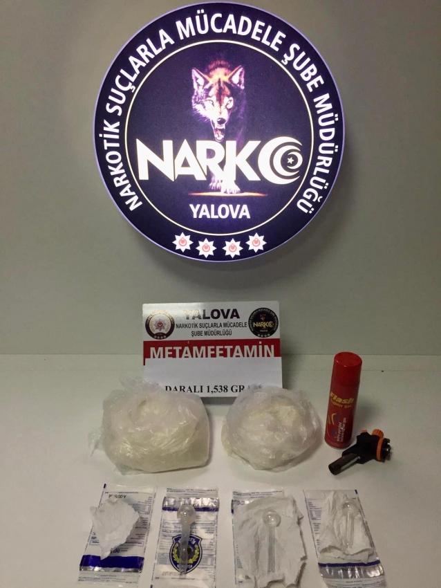 Yalova'da 1.5 Kilo Metanfetamin Ele Geçirildi