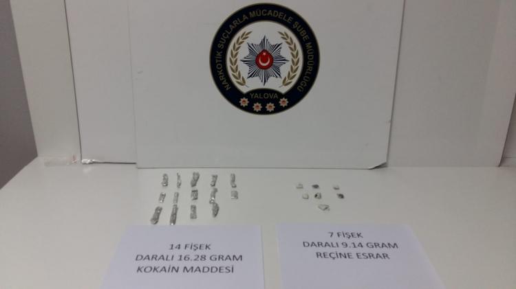Yalova'da Uyuşturucu Operasyonu