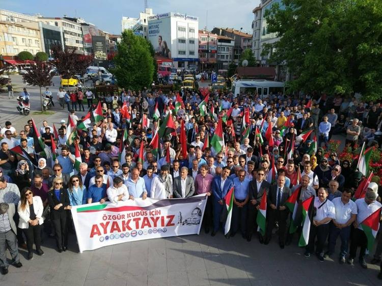 Yalova'dan Fılıstın'e, Kudus'e Ve Gazze'ye Destek