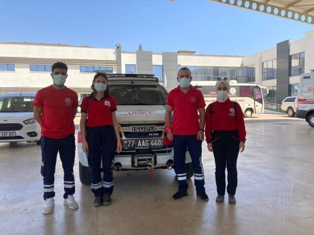 Yalovalı Sağlıkçılar Da Yangın Bölgesinde