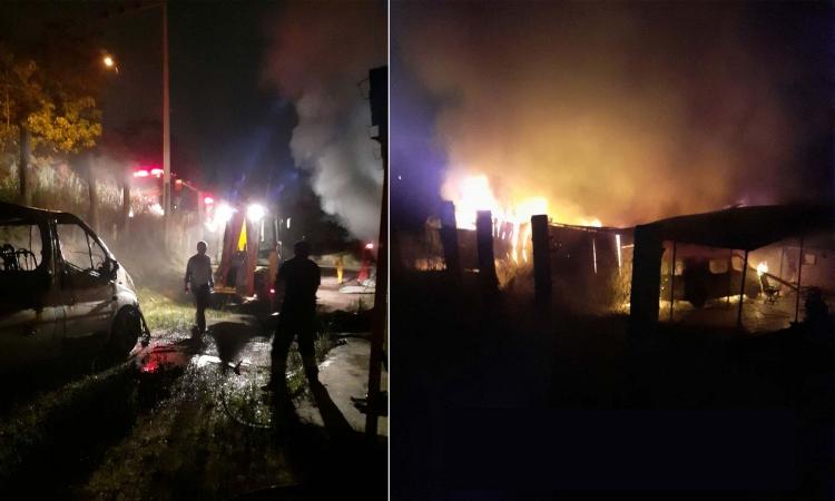 Yalova'da Depo Yangını